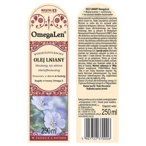 Olej lniany tłoczony na zimno OmegaLen® 250 ml - ETYKIETA