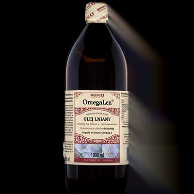 Olej lniany OmegaLen 1 litr