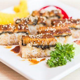 Sushi z olejem sezamowym