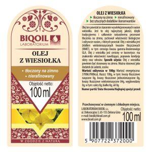 Olej z wiesiołka tłoczony na zimno 100 ml