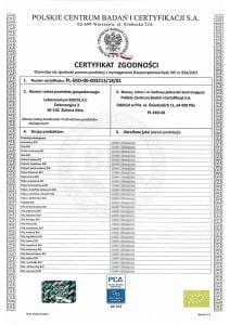 Certyfikat PL-EKO-06
