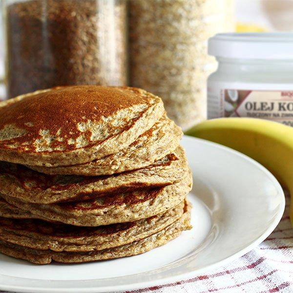 Gryczano-bananowe pancakes