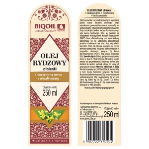 Olej rydzowy / Olej z lnianki 250 ml - ETYKIETA