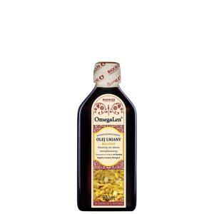 Olej lniany złocisty (złoty) OmegaLen 250 ml