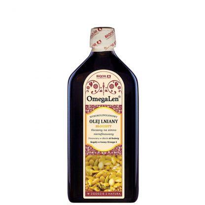 Olej lniany złocisty (złoty) OmegaLen 500 ml