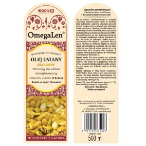 Olej lniany złocisty (złoty) 500 ml OmegaLen