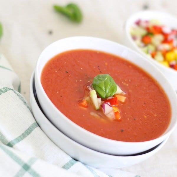 Zupa krem z cukinii i bakłażana z papryką