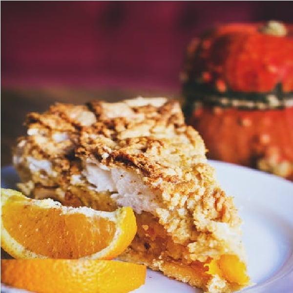 Tarta morelowo-pomarańczowa
