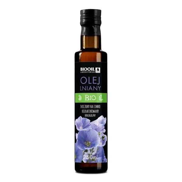 Olej lniany BIO 250 ml seria BLACK